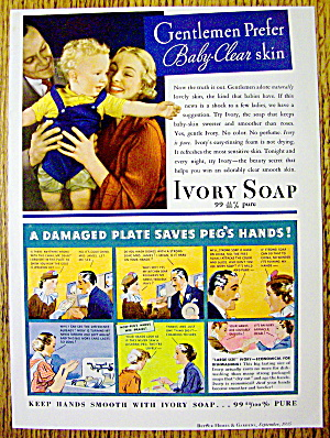 1935 Ivory Soap With A Damaged Plate Saves Peg's Hands