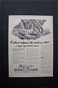 1944 Dixie Cups with 2 Hands & the Flu Epidemic  (Image1)