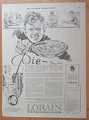 1923 Lorain Oven Heat Regulator with Boy Eating a Pie (Image1)