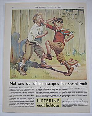 1930 Listerine w/Boys Fighting By Frances Tipton Hunter (Image1)