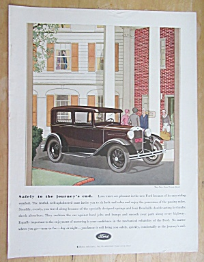1930 Ford With The New Ford Tudor Sedan