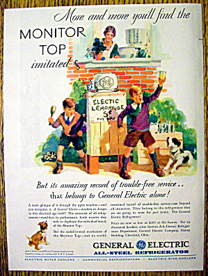 1930 General Electric All-Steel Refrigerator with Boys (Image1)
