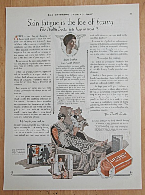 1924 Lifebuoy Health Soap With Woman Relaxing In Chair