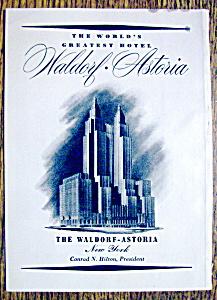 1952 Waldorf-Astoria Hotel with World's Greatest Hotel (Image1)