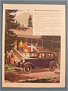 Vintage Ad: 1930 Ford Three-window Fordor Sedan