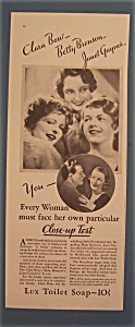Vintage Ad: 1930 Lux Soap w/ Bow, Bronson & Gaynor (Image1)