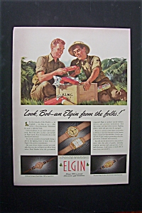 1944 Elgin Watches with 2 Soldiers Opening a Box  (Image1)