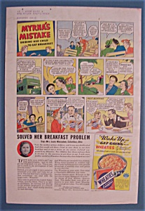 Vintage Ad: 1938 Wheaties w/ Myrna's Mistake (Image1)