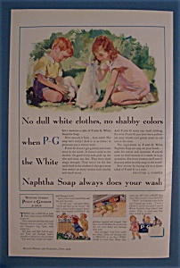 Vintage Ad: 1933 P and G White Naptha Soap (Image1)