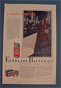 1933 Eveready Batteries with Boy Walking Past Graveyard (Image1)