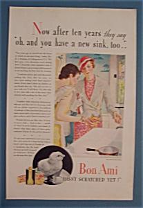 Vintage Ad: 1933 Bon Ami Cleanser (Image1)