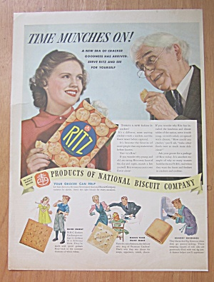 1938 Ritz Crackers with Girl & Man Eating Crackers (Image1)