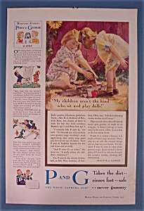 Vintage Ad: 1933 P And G White Naptha Soap