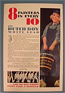 1931 Dutch Boy White Lead Paint w/Dutch Boy & Bucket (Image1)
