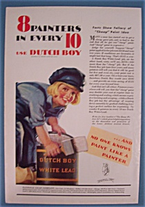 1931 Dutch Boy White Lead Paint w/Dutch Boy & Brush (Image1)