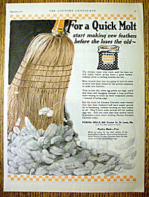 1925 Purina Chicken Chowder w/ Broom Sweeping Feathers (Image1)