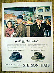 Vintage Ad: 1948 Stetson Hats With Alan Ladd