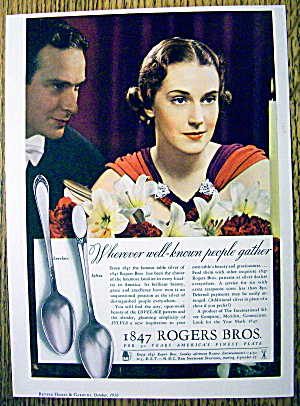 1936 1847 Rogers Bros. Silverware with Lovely Woman (Image1)