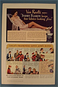 Vintage Ad: 1936 Ivory Soap & Flakes