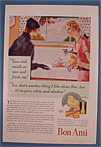 1934 Bon Ami Cleanser With Two Women
