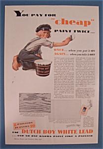 1932 Dutch Boy White Lead Paint w/Dutch Boy Painting (Image1)