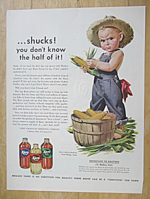 1943 Karo Syrup With The Karo Kid