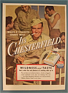 1943 Chesterfield Cigarettes with Soldier & Cigarette (Image1)