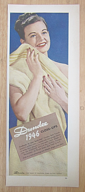 1946 Dundee Towels with Woman Wiping Herself  (Image1)