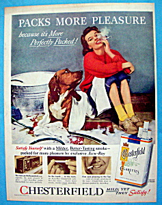 Vintage Ad: 1956 Chesterfield Cigarettes (Image1)