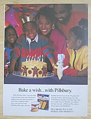 1939 Pillsbury's Best Flour w/Woman with Cake & Ribbon (Image1)