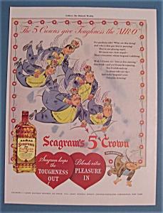 Vintage Ad: 1942 Seagram's 5 Crown Whiskey (Image1)