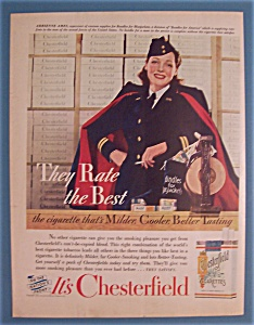 Vintage Ad:1942 Chesterfield Cigarettes W/adrienne Ames