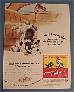 Vintage Ad: 1942 American Brakeblok Brake Lining (Image1)