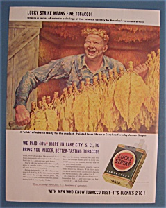 Vintage Ad:1942 Lucky Strike Cigarettes By James Chapin