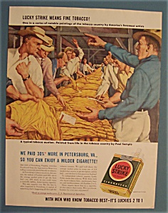 Vintage Ad: 1942 Lucky Strike Cigarettes by Paul Sample (Image1)