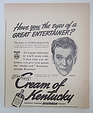 1937 Cream Of Kentucky With Face Of James Barton