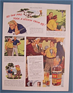 Vintage Ad: 1941 Ten High Whiskey