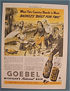 Vintage Ad: 1941 Goebel Michigan's Beer