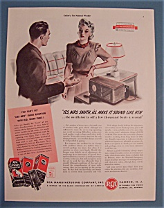 1941 Rca Victor Radio Tubes With Man & Woman Talking