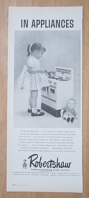 1959 Robertshaw Fulton Controls Co w/Girl & Play Stove (Image1)
