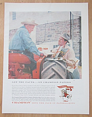 1959 Champion Papers with Man Showing Man Some Prints  (Image1)
