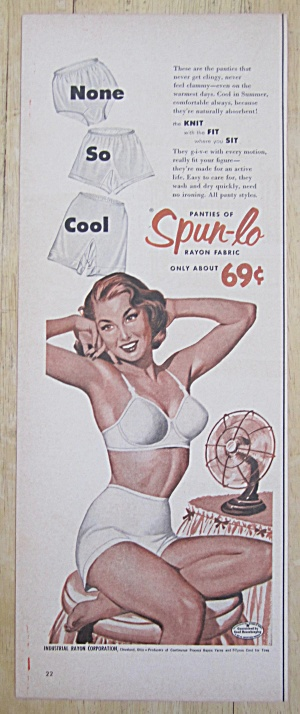 1954 Spun Lo Panties with Woman Sitting on Chair  (Image1)
