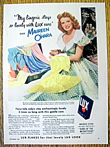 Vintage Ad: 1950 Lux Flakes with Maureen O' Hara (Image1)