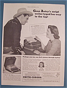 Vintage Ad: 1941 Smith-corona With Gene Autry