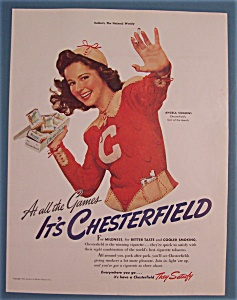 Vintage Ad: 1941 Chesterfield With Angela Cummins