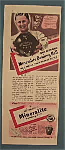 Vintage Ad: 1941 Brunswick Bowling Ball w/ Ned Day (Image1)