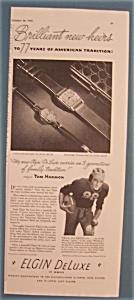 Vintage Ad: 1941 Elgin DeLuxe w/ Tom Harmon (Image1)