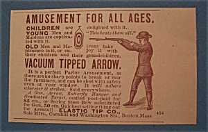 Vintage Ad: 1888 Vacuum TIpped Arrow (Image1)
