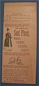 Vintage Ad: 1888 H. C. F. Koch & Co. (Image1)