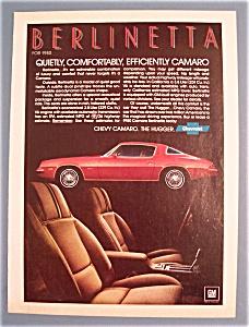 Vintage Ad: 1979 Chevy Camaro Berlinetta (Image1)